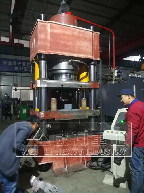 630吨稀土合金粉末成型液压机
